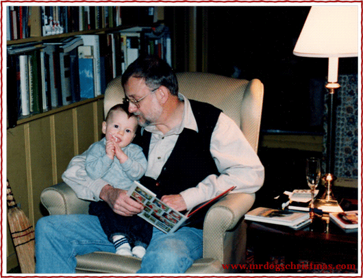 1993: Henry's first Christmas, with his Doompa in the house on West Standley Street, Ukiah, California.