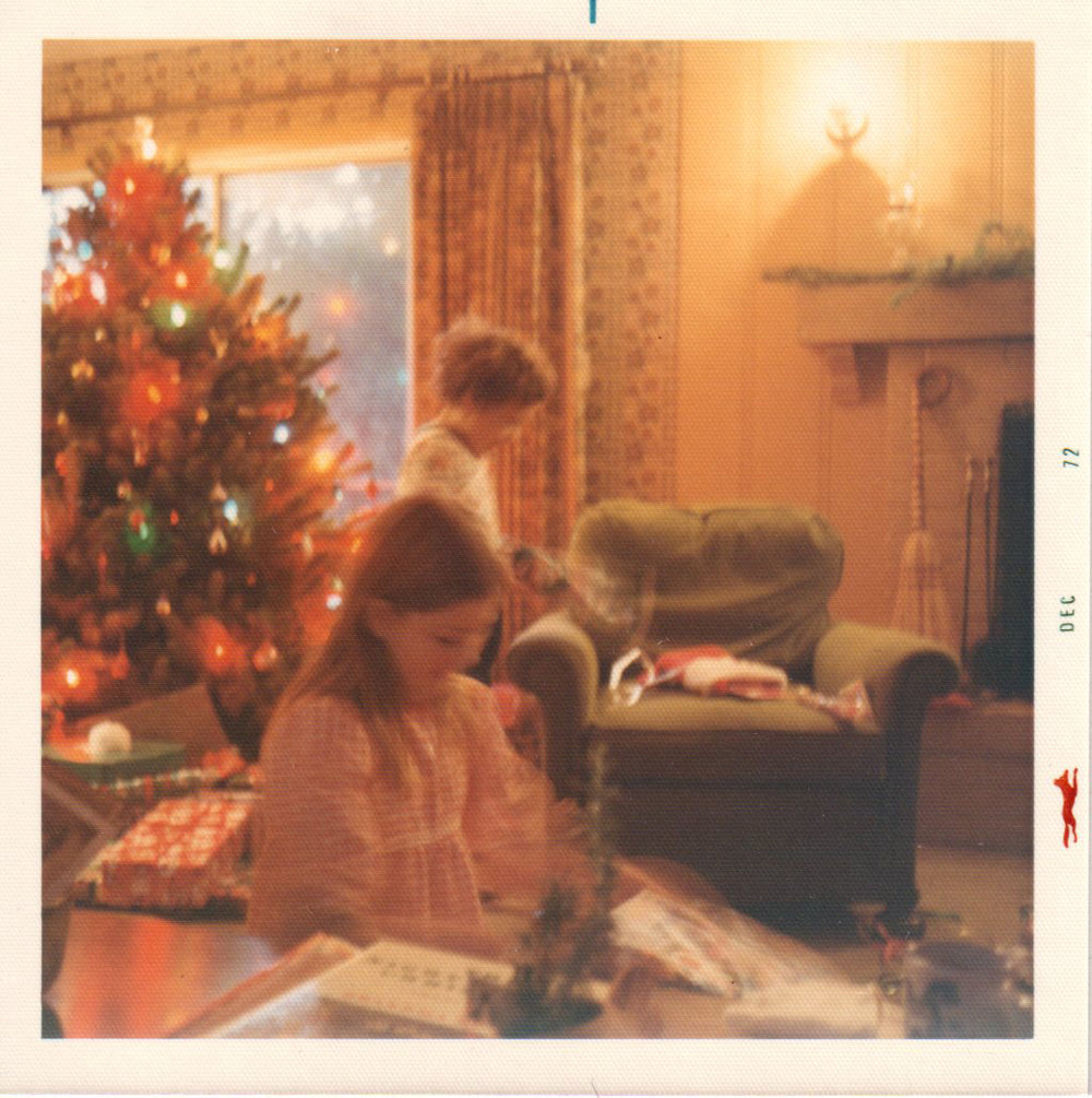 Betsy and Jason on Christmas morning, 1972