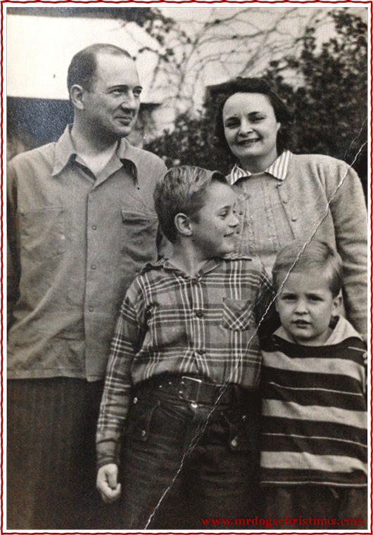 Jim (lower right, about age 6) with brother Jack and their parents—Henry's great grandparents—John and Betty, at home on Indian Rock Avenue in Berkeley, CA.