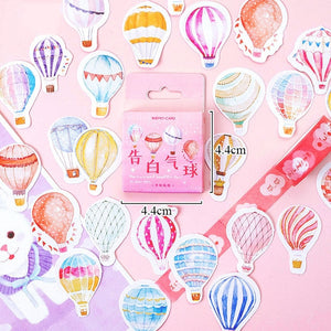45/46Pcs A Person's Travel Stickers Kawaii Paper