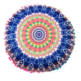 Pompom Bohemian Pillow Cover for Meditation - Free Shipping