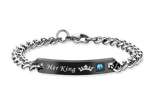 Her King His Queen Couple Bracelets - Free Shipping