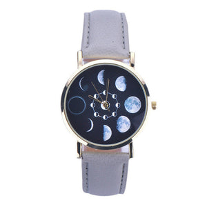 Pattern Leather Analog Quartz Wrist Watch