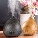 150ml Essential Oil Diffuser, Wood Grain with 7-Color Changing LED Lights Auto Shut-off FREE Shipping