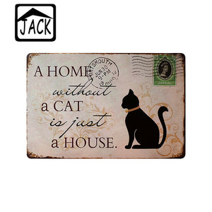 8X12inch Cute Dog Cat Bird Metal Plate Bar Tin Signs Poster Wall Decor