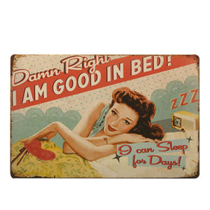 Wall Decor Metal Sign Vintage Decor Metal Plaque Retro Painting Metal Plate