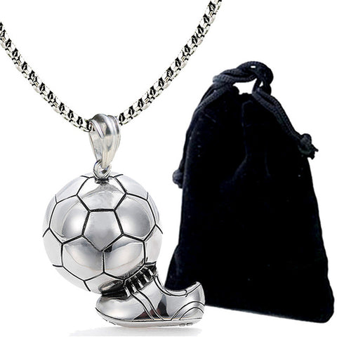 Football Pendant Punk Sports Team Jewelry - Free Shipping