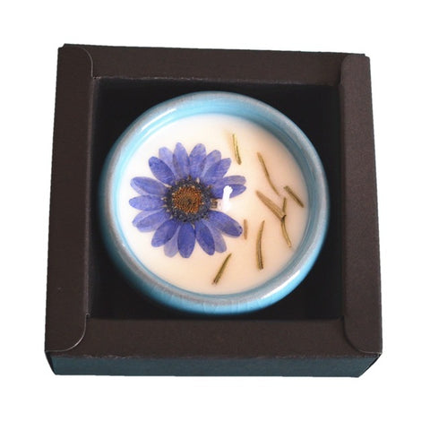 CHUANGGE Fragrance Flower Scented wax Candle Handmade - Free Shipping