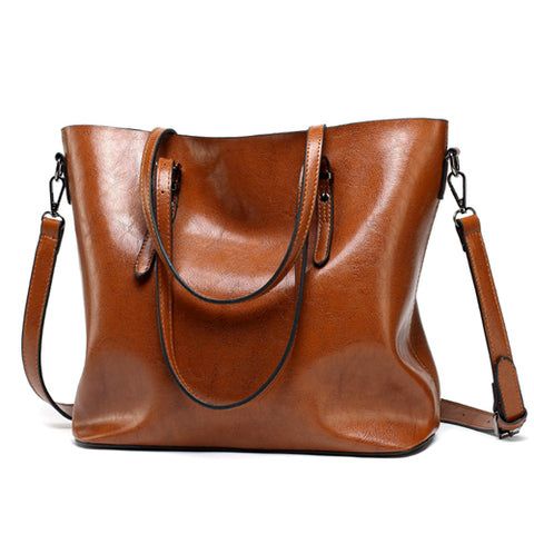 Leather Handbags Lady Large Tote Bag - Free Shipping