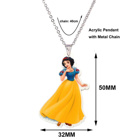 Cartoon Snow White Plastic Necklace - Free Shipping