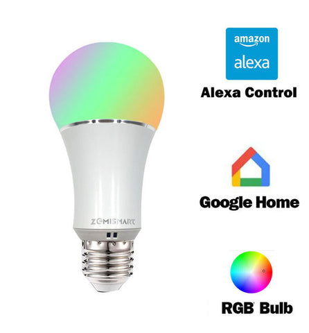 E27 WiFi RGB Led Bulb Light Voice Control by Alexa Echo Google Home - Free Shipping