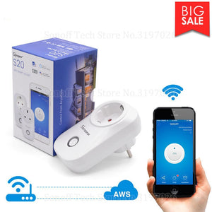 Plug Wireless Remote Outlet Wifi Switch Works With Alexa Google Home Assistant - Free Shipping