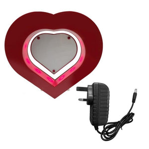 New Floating Photo Frame LED Light Red Heart Shaped - Free Shipping