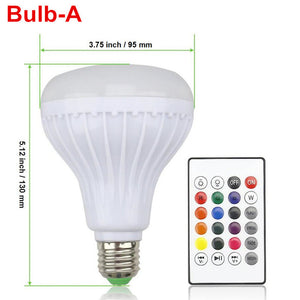 LED RGB Music Bulb Light Lamp with 24 Keys Remote Control - Free Shipping