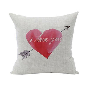 Red Heart Boat Anchor Printed Pillowcase 45*45CM - Free Shipping