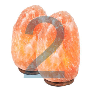 Double Himalayan Salt Lamp 7-9 Lbs