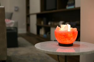 "Himalayan Salt Lamp Bowl - ""Patera"""
