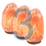 Triple Himalayan Salt Lamp 7-9 lbs