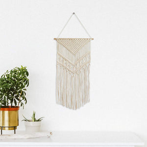 wide woven wall hanging