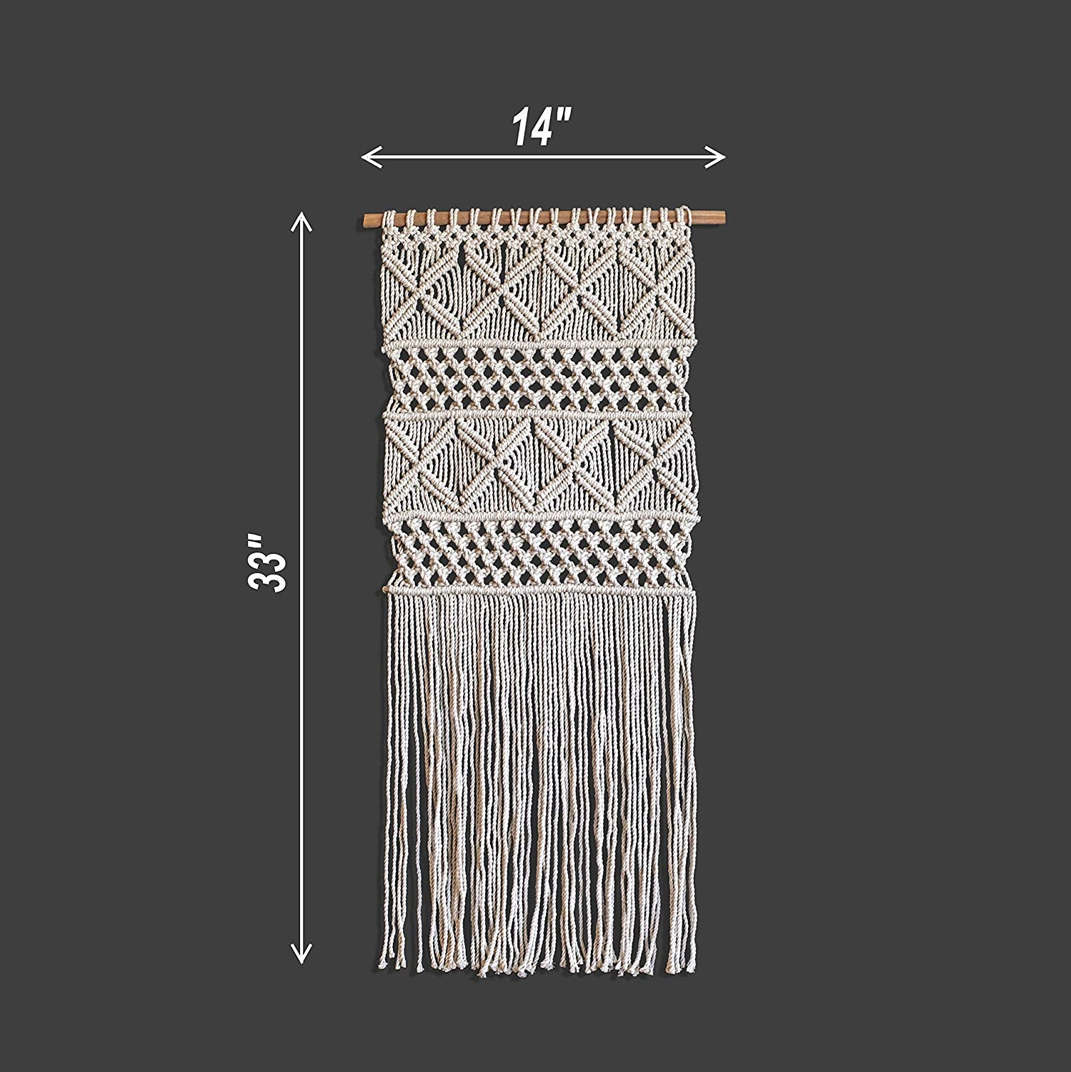 macrame wall hanging sample