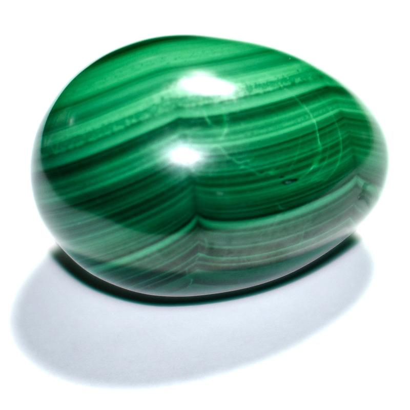 Malachite Crystal Egg Shaped