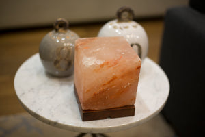 "Himalayan Salt Lamp Cube - ""Quad"""