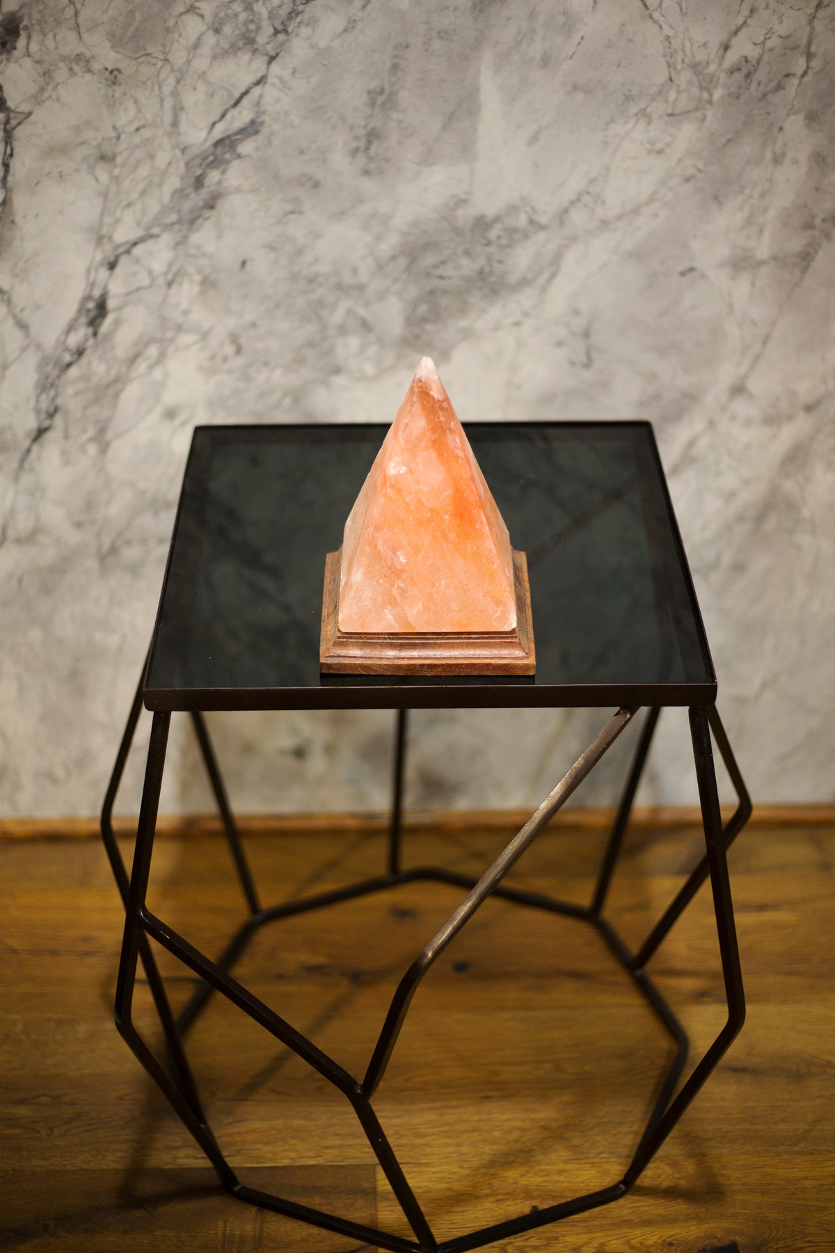 "Himalayan Salt Lamp Pyramid - ""Sphinx"""