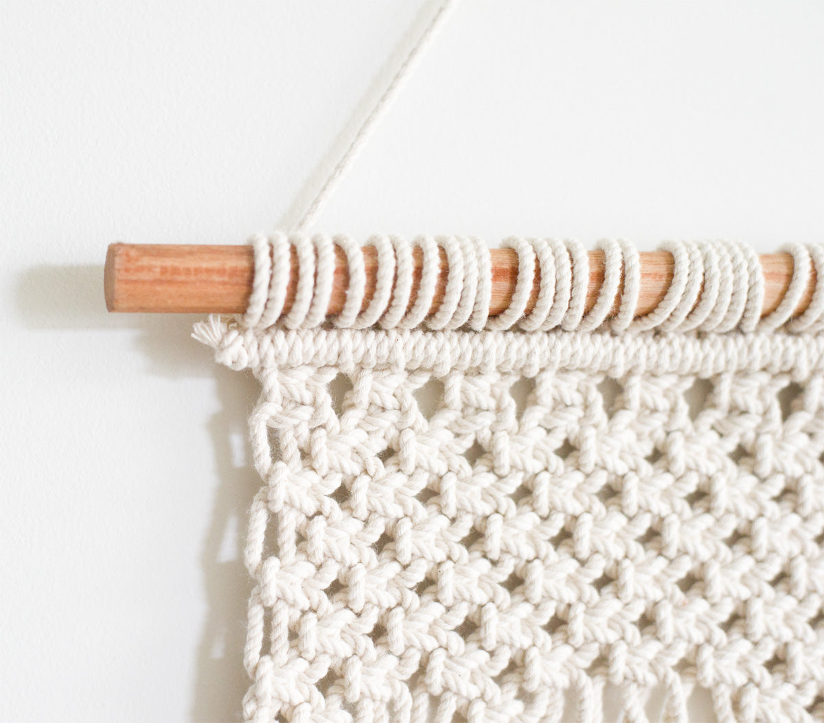 wide macrame wall hanging
