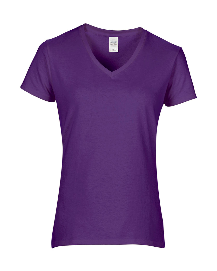 Ladies Heavy Cotton V-Neck