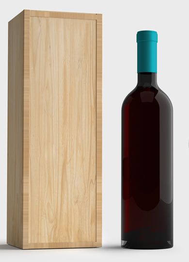 Natural Finish Wine Box with Label