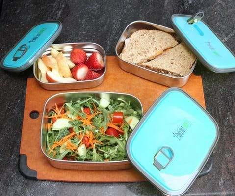 Leak-proof stainless steel lunch box food container