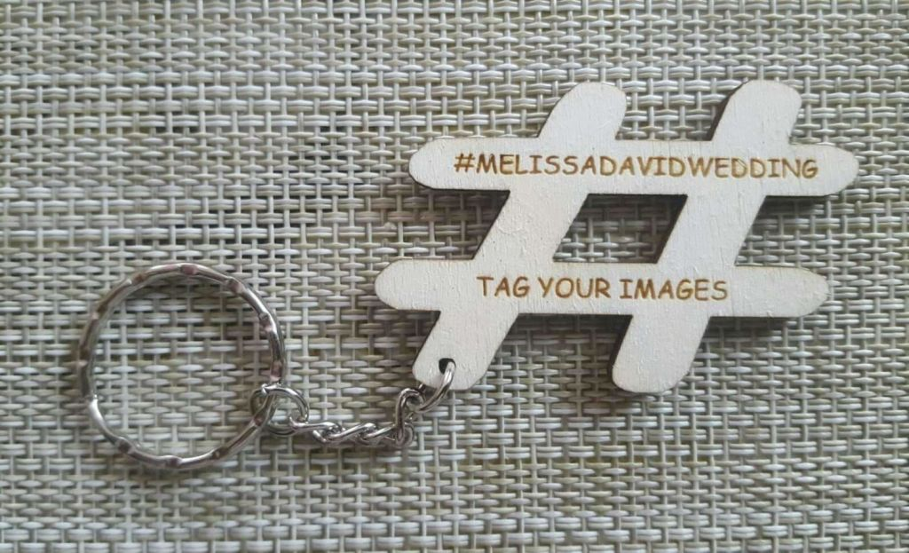10 x Personalised keyrings wooden wedding favour or advertising - Irish Wooden Gifts