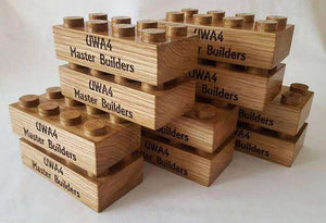 Wooden Lego Block, Personalised engraved - Irish Wooden Gifts