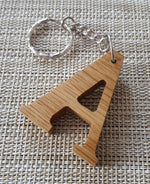 Personalised Wooden Letter Keyring, Engraved Letter Keyring, Walnut Keyring, Oak Keyring - Irish Wooden Gifts