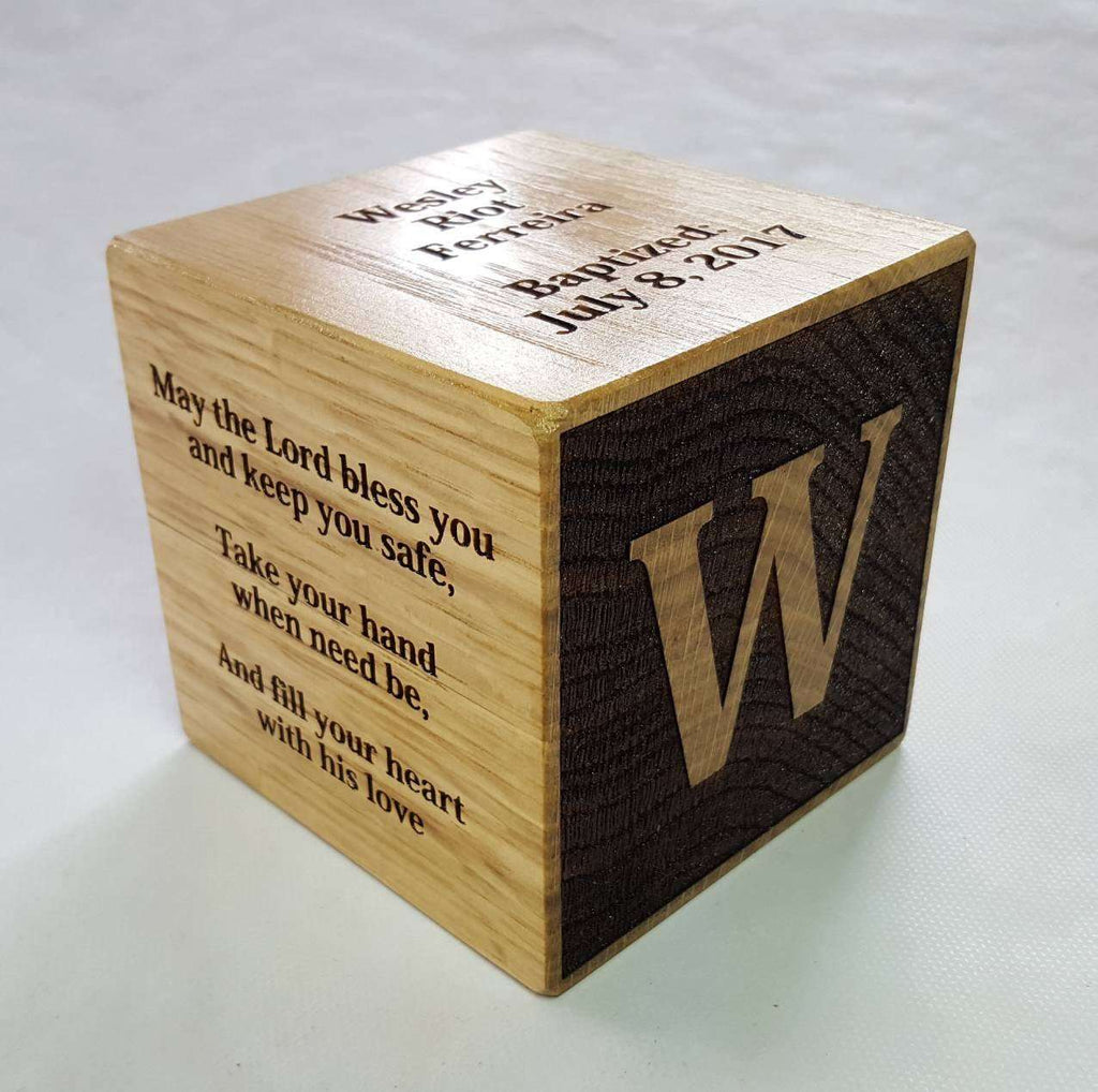 Christening Block, Baptism Block, Wedding Block, Anniversary Block Gifts - Irish Wooden Gifts
