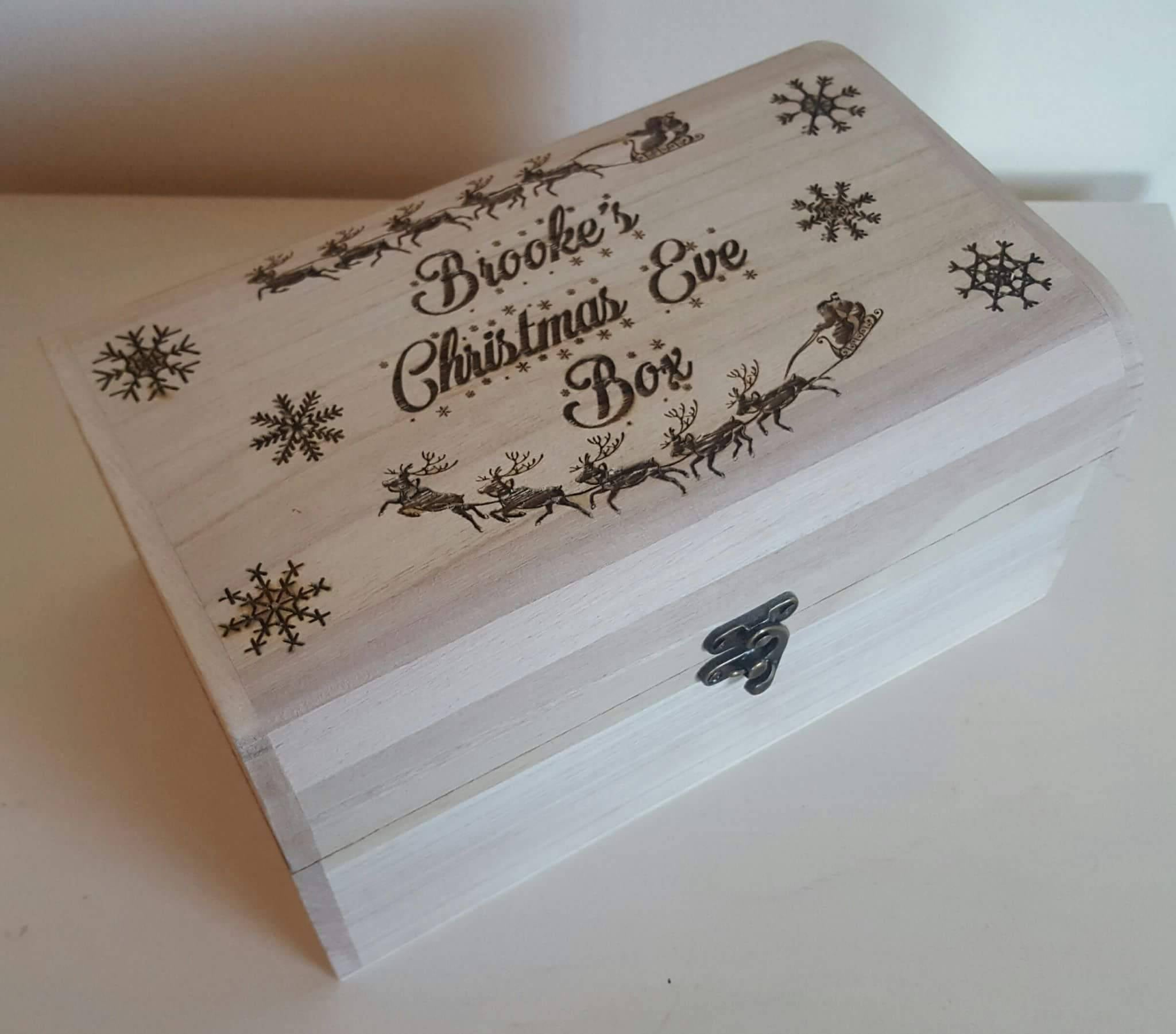 Personalised Christmas Eve Box - Irish Wooden Gifts