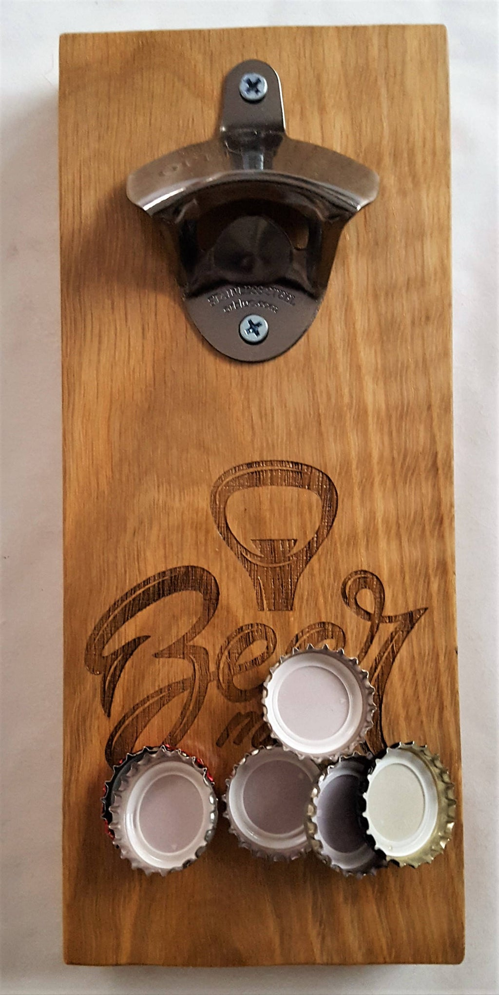 Wall Mounted Bottle Opener, Wooden Bottle Opener, Bar Bottle Opener, Wall Mounted Bottle Opener - Irish Wooden Gifts