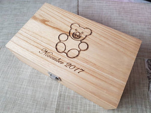 Fully customisable and personalised Keepsake box / memory box - Irish Wooden Gifts
