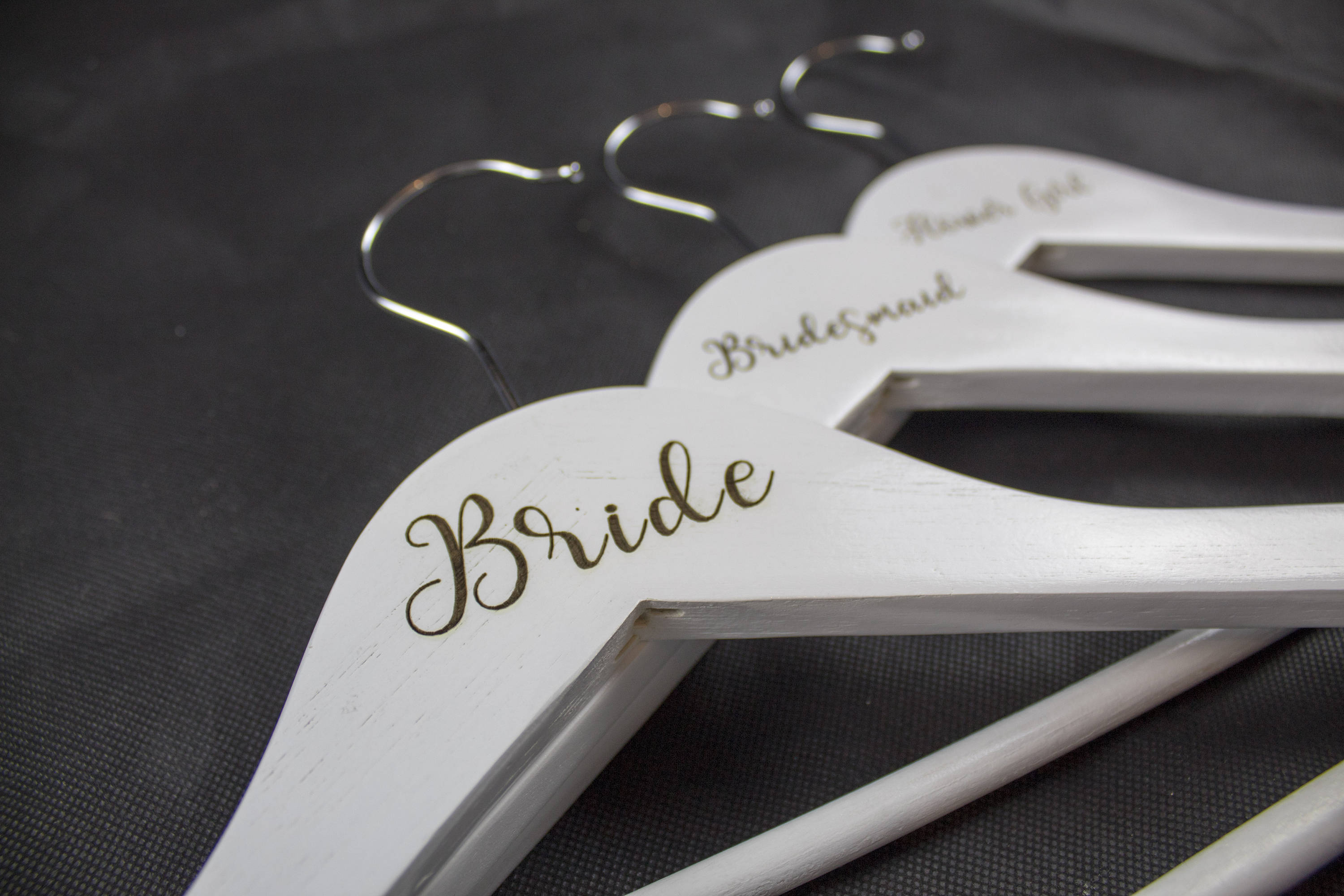 Wedding Hanger, Personalized Bridesmaid Hangers, Wooden Wedding Hangers, Bride Hanger, Wedding Dress Hanger Style - Irish Wooden Gifts