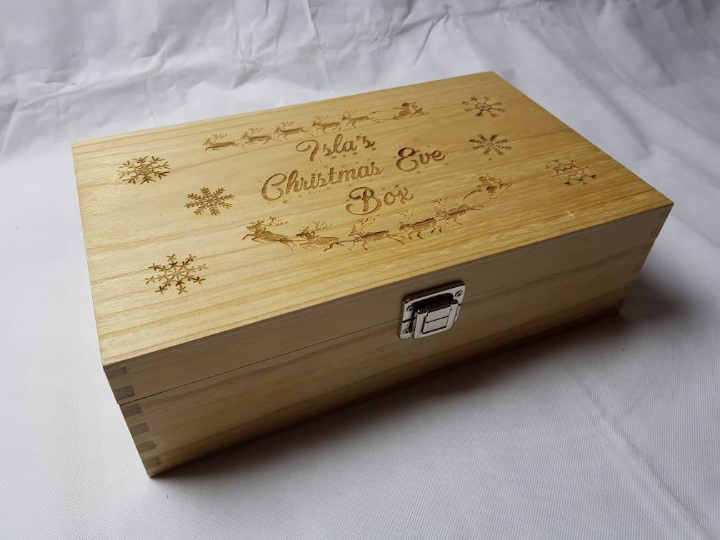 Luxury Personalised Christmas Eve Box - Irish Wooden Gifts