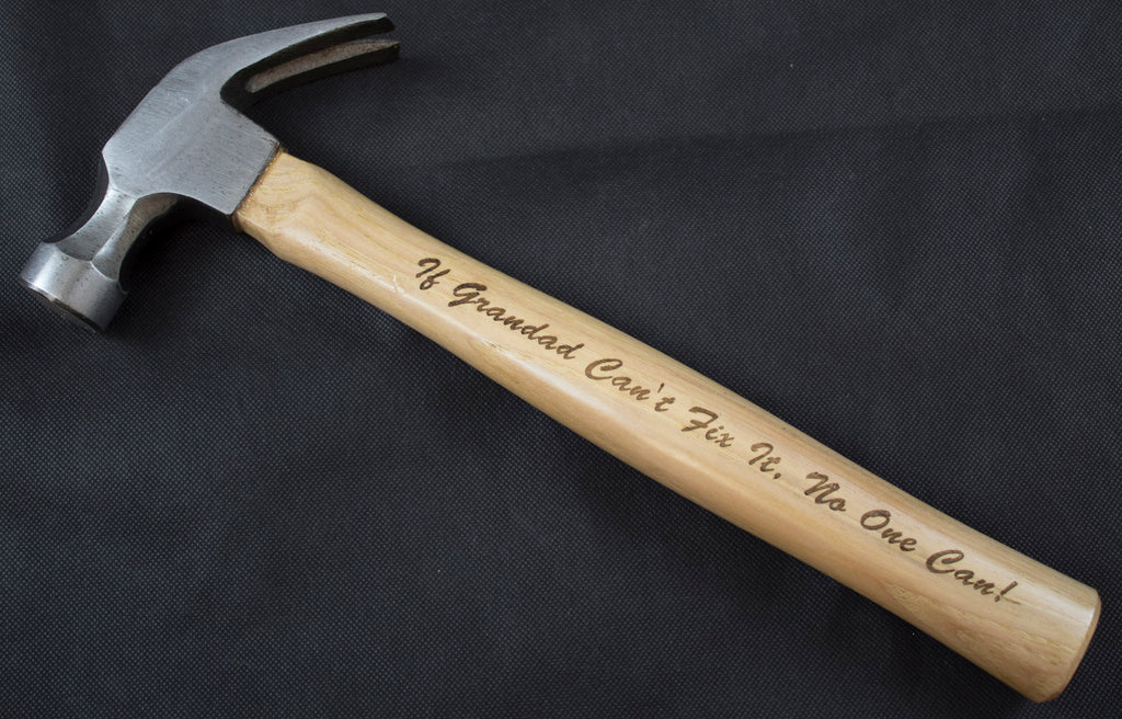 Personalised Hammer, Engraved Hammer, Wooden Hammer - Irish Wooden Gifts