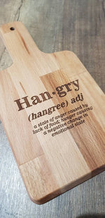 Hangry Chopping Board, Cutting Board, Personslised cutting board, personalised chopping board - Irish Wooden Gifts