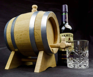 Solid oak Personalised 5 litre barrel. Whiskey barrel. Wine barrel - Irish Wooden Gifts