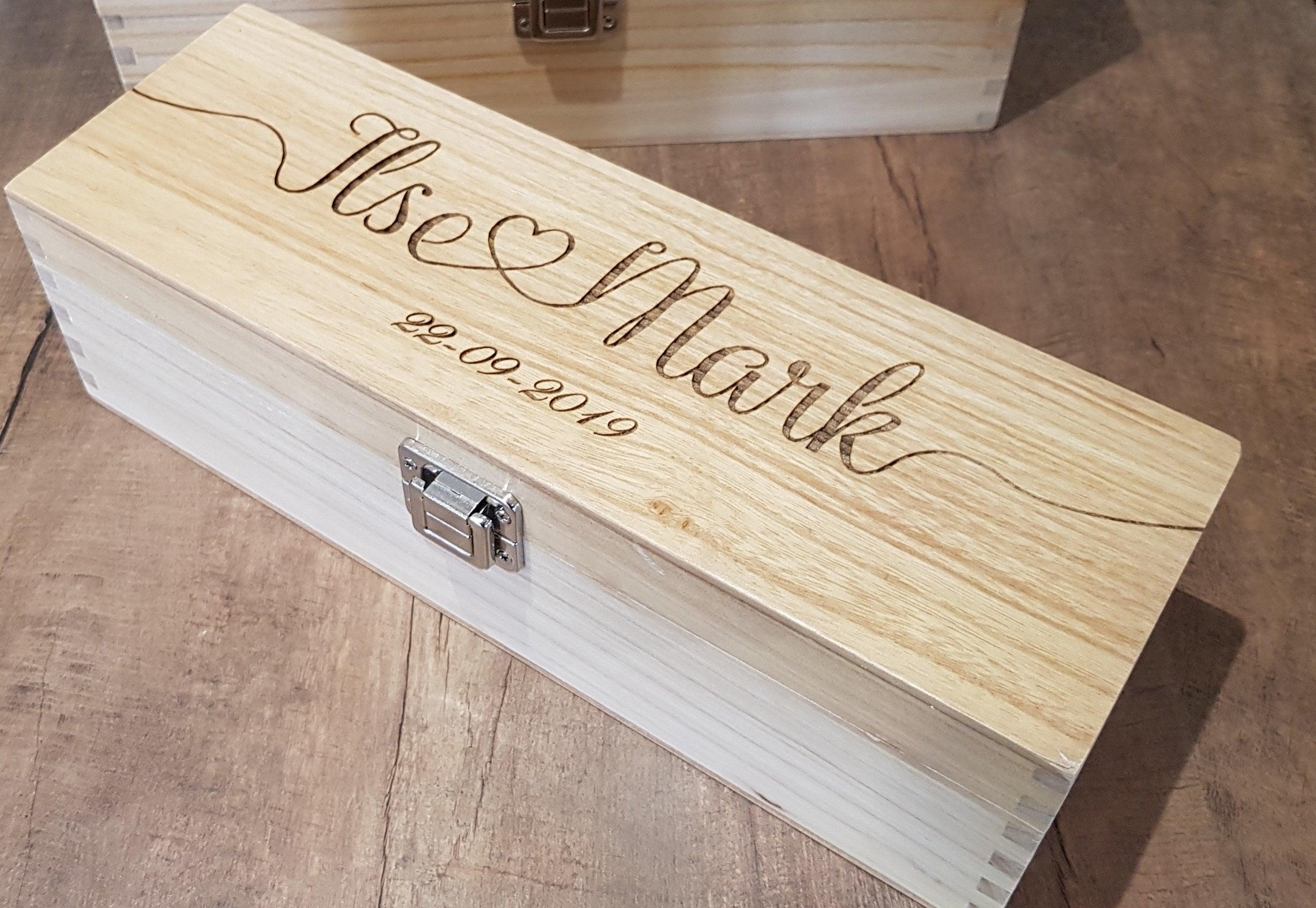Personalised Wooden Wine Box, Personalised Wine Box - Irish Wooden Gifts