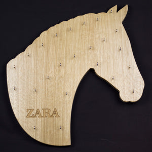 Horse Head Medal Board engraved with name, Horse Silhouette Medal Board, Sports Medal Board, Equestrian Medal Board - Irish Wooden Gifts