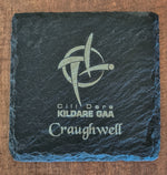 Fully Personalised Slate Coaster, Custom Laser Engraved ANY Logo Or Text, Personalized Wedding Gift Favour