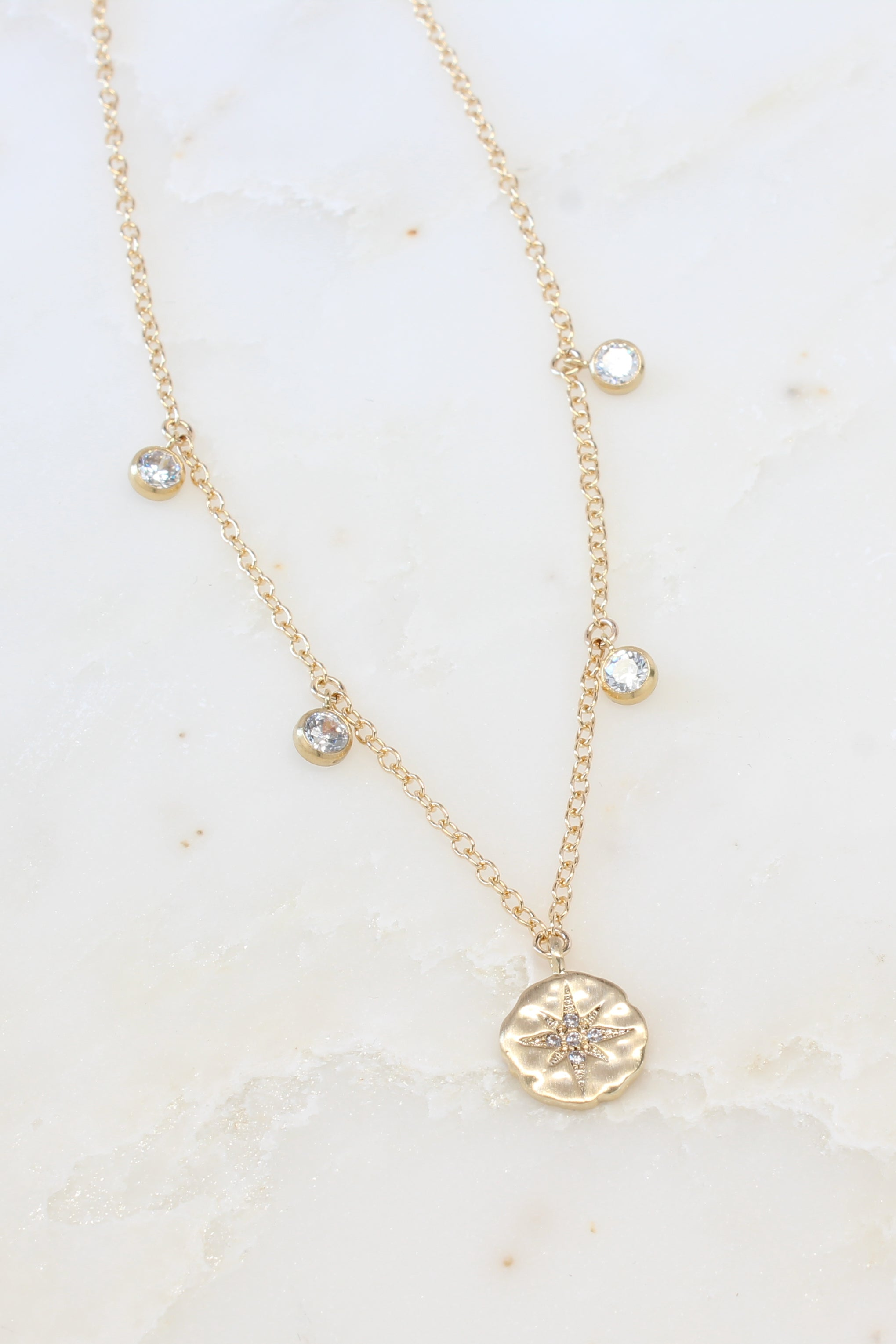 Amara Shaker Necklace Gold Brooke Landon Jewelry