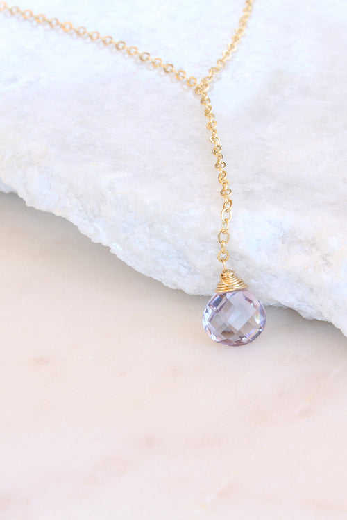 Audrey Necklace - Amethyst