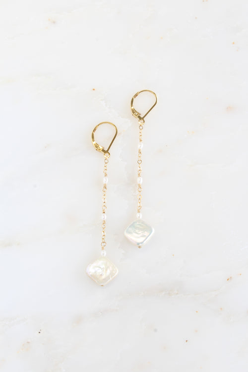 Bella Earrings | Pearl