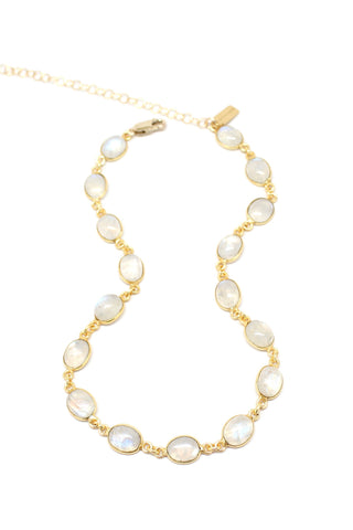 Audrey Necklace | Peach Moonstone